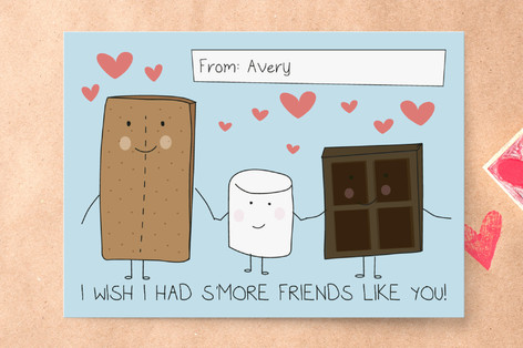 Customized Valentineu0027s Day Cards To Buy. Smore Friends